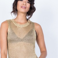 Shine in Metallics Tank