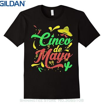 GILDAN Men Tops Tees 2017 Summer Fashion New Fiesta Cinco De Mayo Sombrero T-shirt - Mexican Party Tshirt