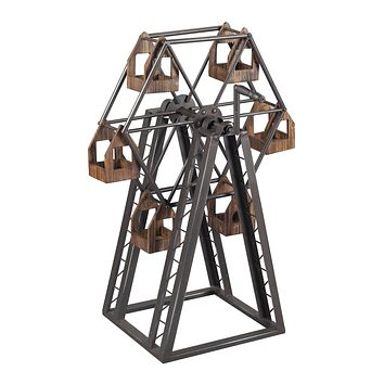138-008 Bradworth-Industrial Ferris Wheel Candle Holder - Free Shipping!