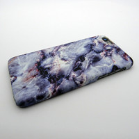 Purple Marble Stone iPhone 7 7 Plus & iPhone 5s se & iPhone 6 6s Plus Case Cover +Gift Box
