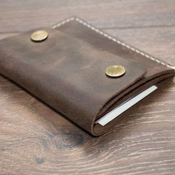 Leather Minimalist Wallet - Men's Wallet - Card Holder - Coin Wallet - Women's Wallet - Original Leather wallet - Personalized Wallet