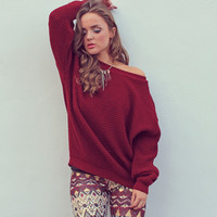 Catch Up Wine Sweater