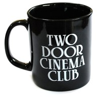 Two Door Cinema Club Logo Mug (Black) | The Official Webstore for Two Door Cinema Club Merchandise
