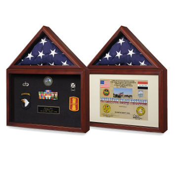 Capitol Presentation Flag Case with Display Shadow Box Hand Made By Veterans