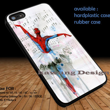 Spiderman Ballet Marvel DOP1124 iPhone 6s 6 6s+ 5c 5s Cases Samsung Galaxy s5 s6 Edge+ NOTE 5 4 3 #movie #disney #animated #marvel #comic #spiderman