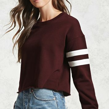 Cropped Raw-Cut Sweater