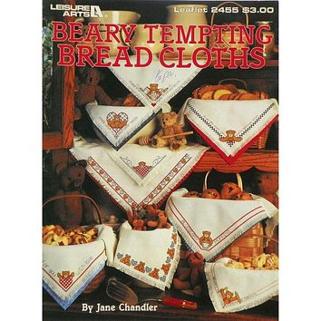 Beary Tempting Bread Cloths - Counted Cross Stitch Leaflet - Leisure Arts