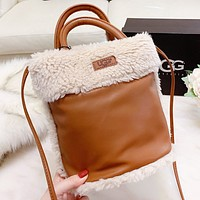 UGG New fashion fur shoulder Bag handbag women crossbody bag bucket bag