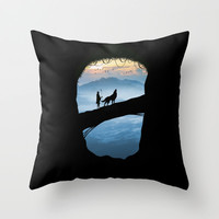 Hunter Throw Pillow by Tony Vazquez
