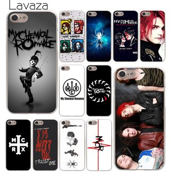 Lavaza My Chemical Romance Hard Phone Cover Case Transparent for Apple iPhone 10 X 8 7 6 6s Plus 5 5S SE 5C 4 4S Coque Shell