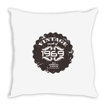 vintage made of 1969 all original parts Throw Pillow