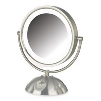 Jerdon 8X/1X LED Lighted Vanity Mirror in Brushed Nickel