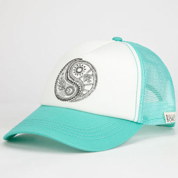 Billabong Yin Yang Womens Trucker Hat Mint One Size For Women 25259352301