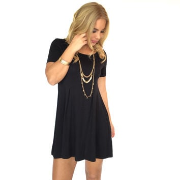 Seams Right Jersey Dress In Black