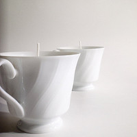 Pure Essential Oil Fine China teacup candle - Customize your own blend