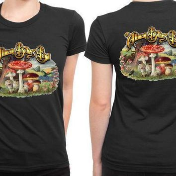 Allman Brothers Band Discography 2 Sided Womens T Shirt