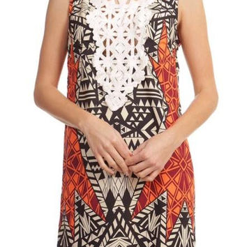 Crochet Front Pattern Dress