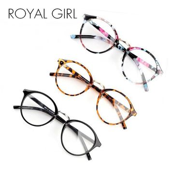 ROYAL GIRL New Brand Designer Eyeglasses Frame Vintage Plain glass clear lens reading eyewear Optical Sunglass ss740