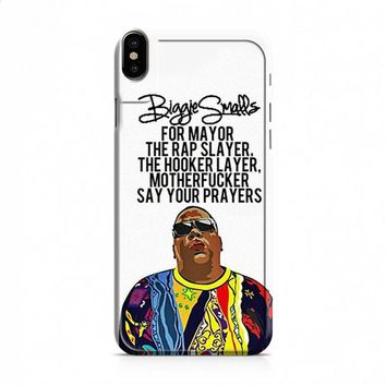 Biggie Smalls Quotes iPhone X case