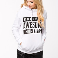 """COLLEGE AWESOME MOMENTS"" Print Hoodie Sweatshirt"