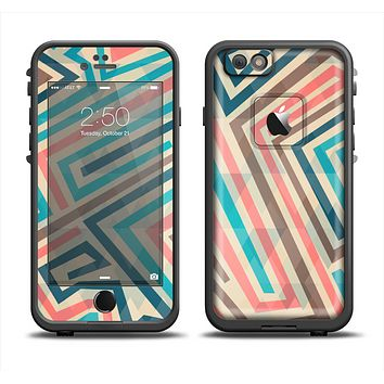 The Retro Colored Maze Pattern Apple iPhone 6 LifeProof Fre Case Skin Set
