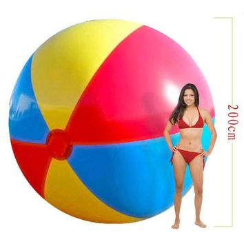 Gigantic Inflatable Beach Ball Colorful Volleyball Children Outdoor Team Toys Family Garden Plaything Party Supply 130cm 150cm 2