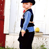 Little Boys Outfit - Vest, Bow Tie and Cargo Pants #toddlerboy #babyboy #boysclothes #fallfashion #winterfashion