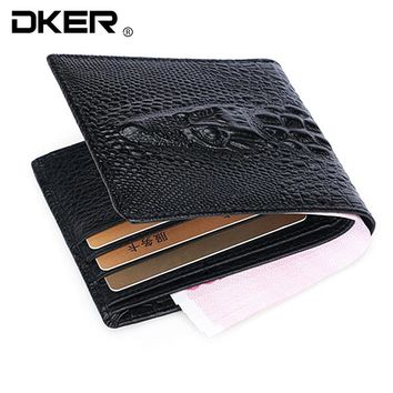 2017 Crocodile skin wallet crocodile clutch purse  hidden pocket wallet leather men wallet billeteras masculinas porta moedas