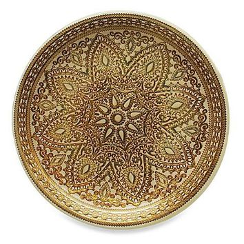 Set of 4 Gold Glass Charger Plates