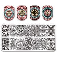 BORN PRETTY 12*6cm Rectangle Nail Art Stamping Template Floral Design Manicure Nail Art Image Plate BP-L052