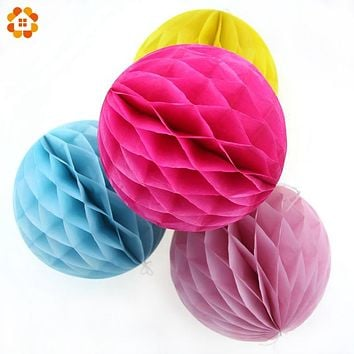 10PCS/Lot 4''(10cm)Can Mix Colors Tissue Paper Lantern Honeycomb Ball For Home Wedding &Birthday Party /Baby Shower Decoration
