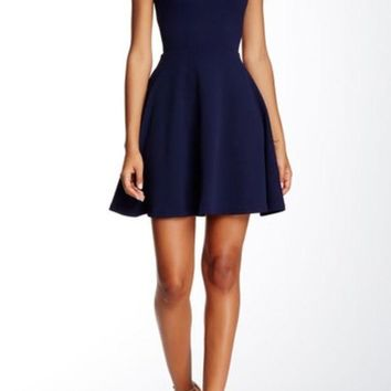 DCCKHB3 Love...Ady | Textured Fit & Flare Dress