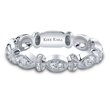 "Kirk Kara ""Dahlia"" Marquise Shaped Diamond Wedding Band"