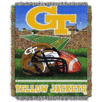 "Georgia Tech Yellow Jackets NCAA Home Field Advantage 48""x 60"" Woven Tapestry Throw"