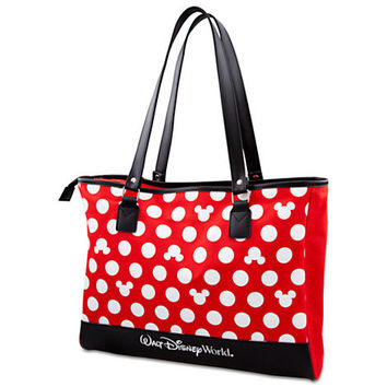Polka Dot Walt Disney World Minnie Mouse Tote -- Red | Disney Store