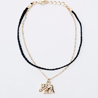 Elephant and Chain Friendship Bracelet in Gold - Urban Outfitters