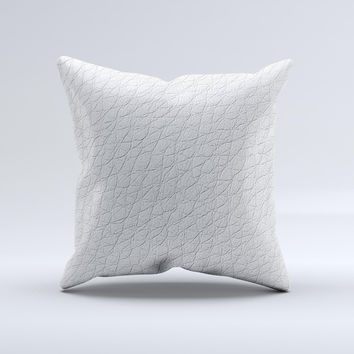 White Leather Throw Pillow : Shop Leather Pillow Covers on Wanelo