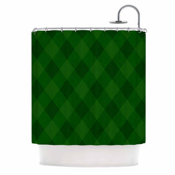 "Matt Eklund ""Overgrowth"" Forest Green Shower Curtain"