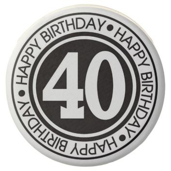Black and White 40th Birthday Dipped Oreo
