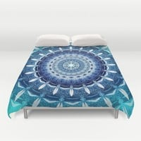 Absolute Zero Mandala Duvet Cover by Inspired Images
