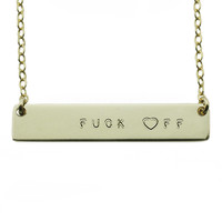 The Name Plate Necklace Fuck ♥ff