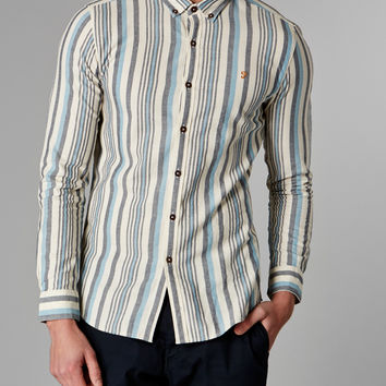 Farah Vintage Oxford Shirt with Stripe