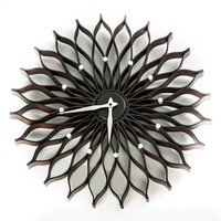 World Friendly World 'Sunflower' Wall Clock - Brown
