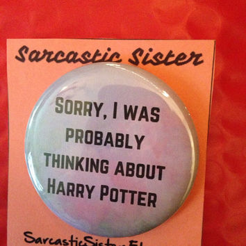 Harry Potter 2.5 Inch Pinback Button