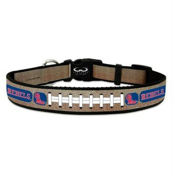 PEAPYW9 Ole Miss Rebels Reflective Football Pet Collar