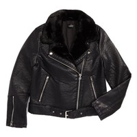 Topshop Vardy Faux Leather Biker Jacket | Nordstrom