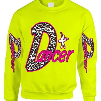 Dancer White Leopard women's sweatshirt
