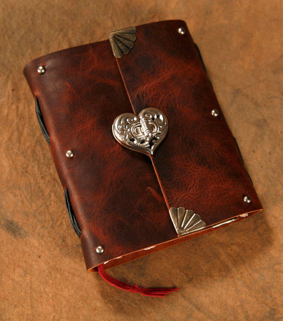 Leather Journal - Heart Clasp - Brown - from Twisted2011 ...