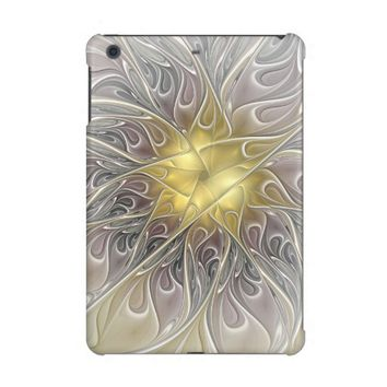 Flourish With Gold Modern Abstract Fractal Flower iPad Mini Case
