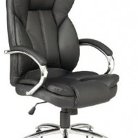 Black High Back PU Leather Executive Office Desk Task Computer Chair w/Metal Base O18